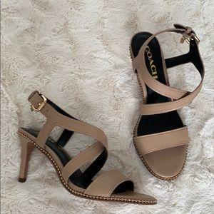 Coach Camel Leather Sandals